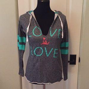 "Derek Heart ""Love is Love"" lightweight sweatshirt"